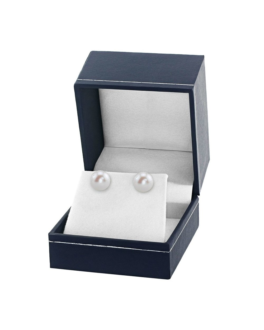 THE PEARL SOURCE 14K Gold 9-10mm AAA Quality Round White Freshwater Cultured Pearl Stud Earrings for Women by The Pearl Source (Image #3)