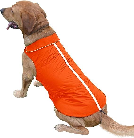 Soft Fleece Lining Reflective Pet Jacket for Cold Weather S- XXXL Outdoor Sports Dog Raincoat Snowsuit Apparel Ezer Waterproof Dog Coat