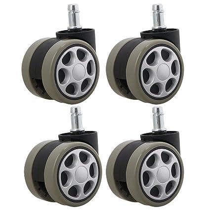 rdexp 61 mm diámetro de la rueda de hierro polipropileno negro gris giratorio Caster rueda para