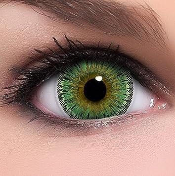 reich und großartig hübsch und bunt verfügbar Linsenfinder Lenzera Circle Lenses grüne 'Dolly Green' ohne Stärke +  Kombilösung + Behälter Big Eyes 15mm farbige Kontaktlinsen