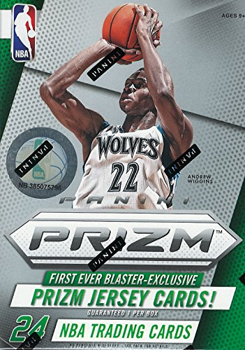 2014 2015 Prizm NBA Basketball Series Unopened Blaster Box Made By Panini with One Guaranteed Game Used Jersey Card Per Box