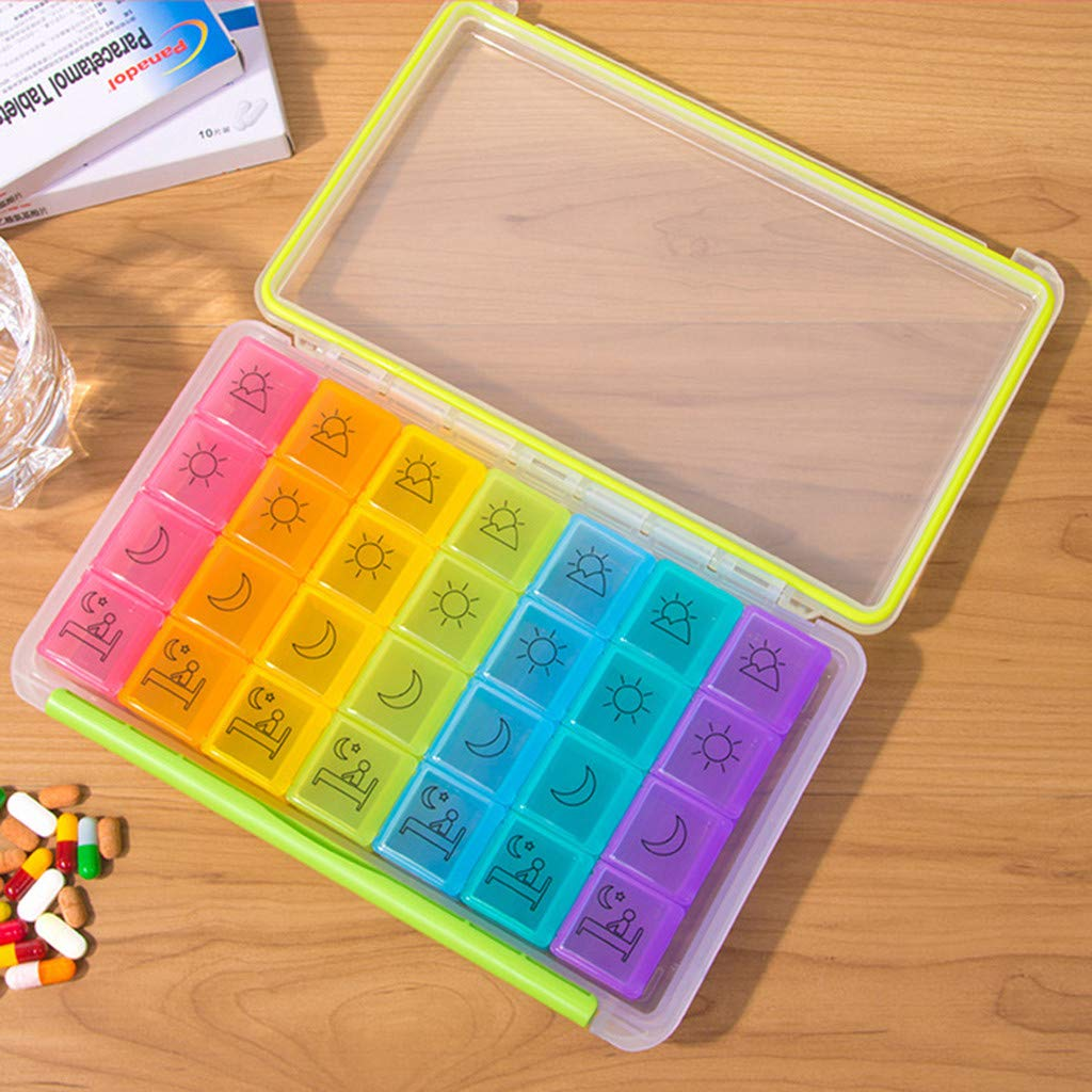 Amazon com : Nesee 7 Days Pill Organizer Tablet Box Weekly