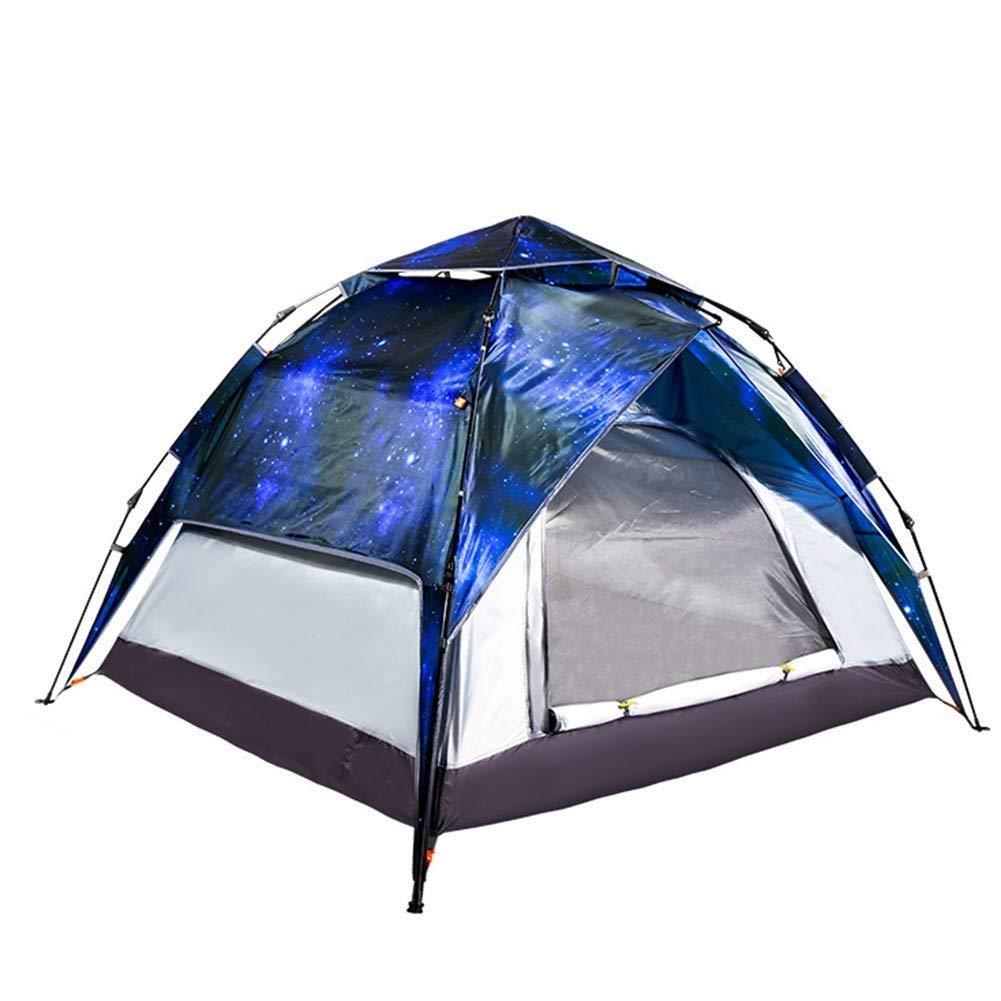 Jkl000-tent Outdoor Camping Zelt Romantische Sternenhimmel 3-4 Personen Sonnenschutz Wasserdichte Familienreisen Urlaub Picknick Strand Park Rasen