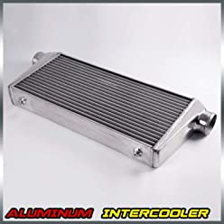 76mm Universal Front Mount Turbo Aluminum Intercooler Kit FMIC 600x300x76 Core Inlet/Outlet 3
