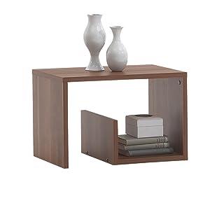 FMD Möbel SB-Design Mike - Mesa auxiliar en cerezo (59 x 38 x 36 cm)