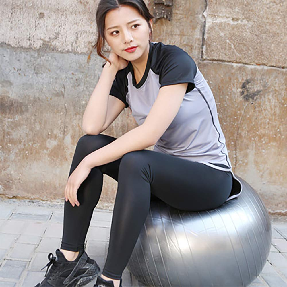 HWTP Frauen-Polo-Shirt, Fitness-Trainings-Sweatshirt Laufbekleidung Yoga-Kurzarm-Sportoberteile Frauen-Fitnessoberteile,c,XL