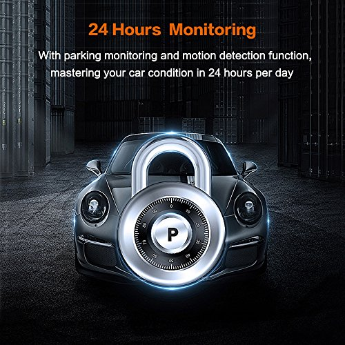 Loop Recording 3 LCD Screen G-Sensor 155/° Wide Angle HP Dual Dash Cam Built-in GPS FHD 1080P Front Rear Dashboard Recorder with Sony Sensor