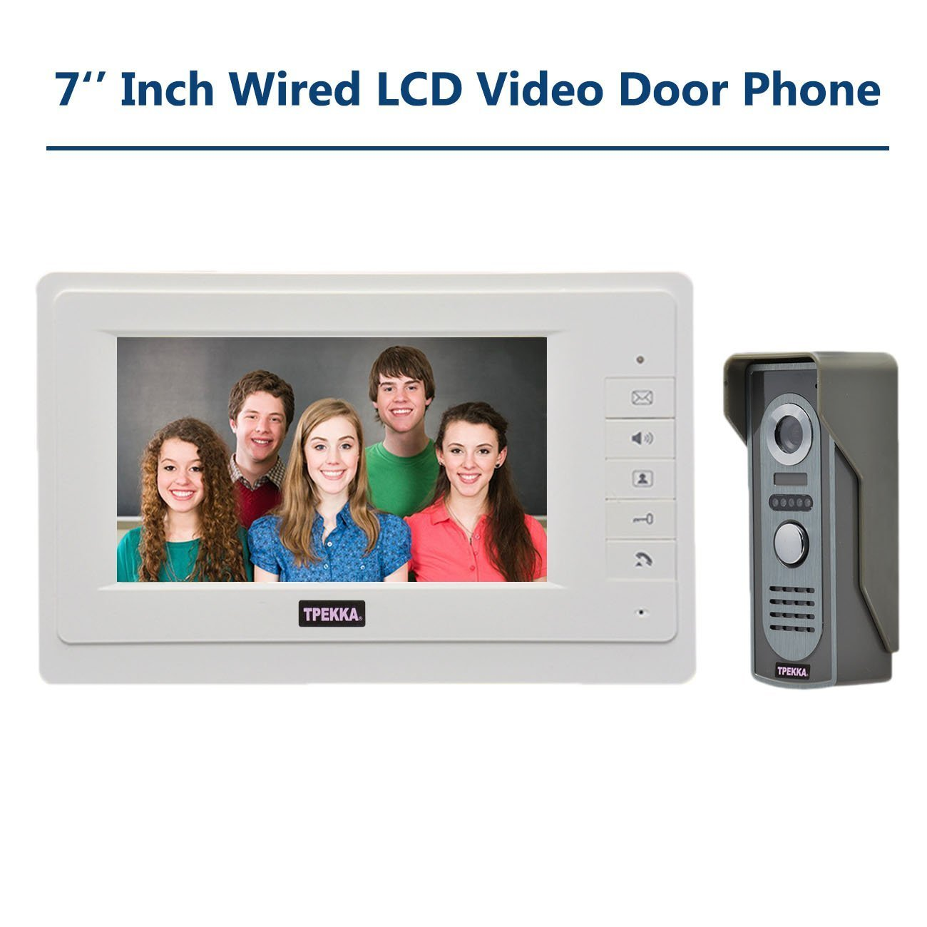 TPEKKA 7 Inch Color LCD Video Door Phone Doorbell Home Entry ...