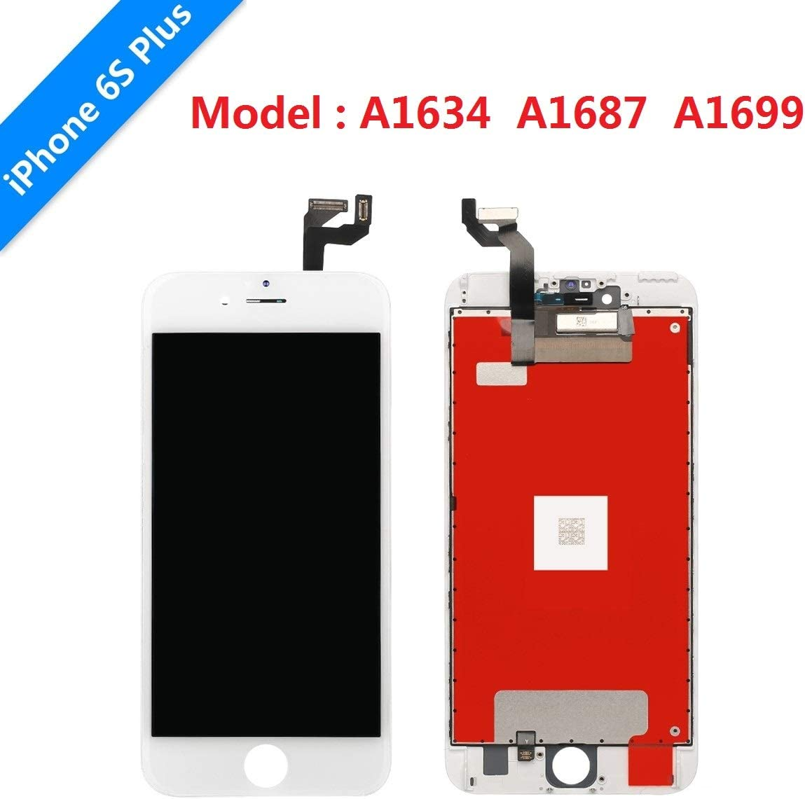 USlansis White iPhone 7 Plus Screen Replacement 3D Touch Screen Glass Digitizer Frame Assembly Set with Tempered Glass Screen Protector Instruction Repair Tools