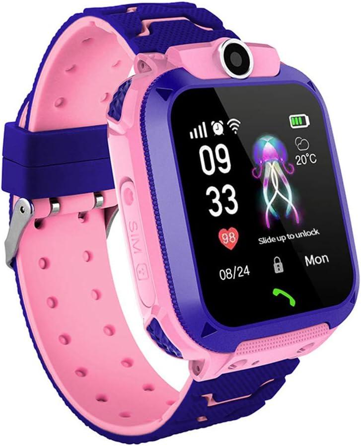 GFCGFGDRG Inteligente Reloj Kid Smartwatches Baby Watch 1,44 Pulgadas de Pantalla táctil Resistente al Agua Chat de Voz Localizador Rastreador contra Reloj Perdido