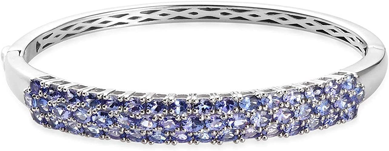 "925 Sterling Silver AAA Cubic Zirconia CZ Women Bracelet Bangle 6/""-7.5/"""