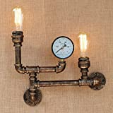 HOMEE Wall lamp- retro creative water pipe long industrial wind iron art wall lamp the restaurant bar is decorated in a bedroom wall lamp --wall lighting decorations