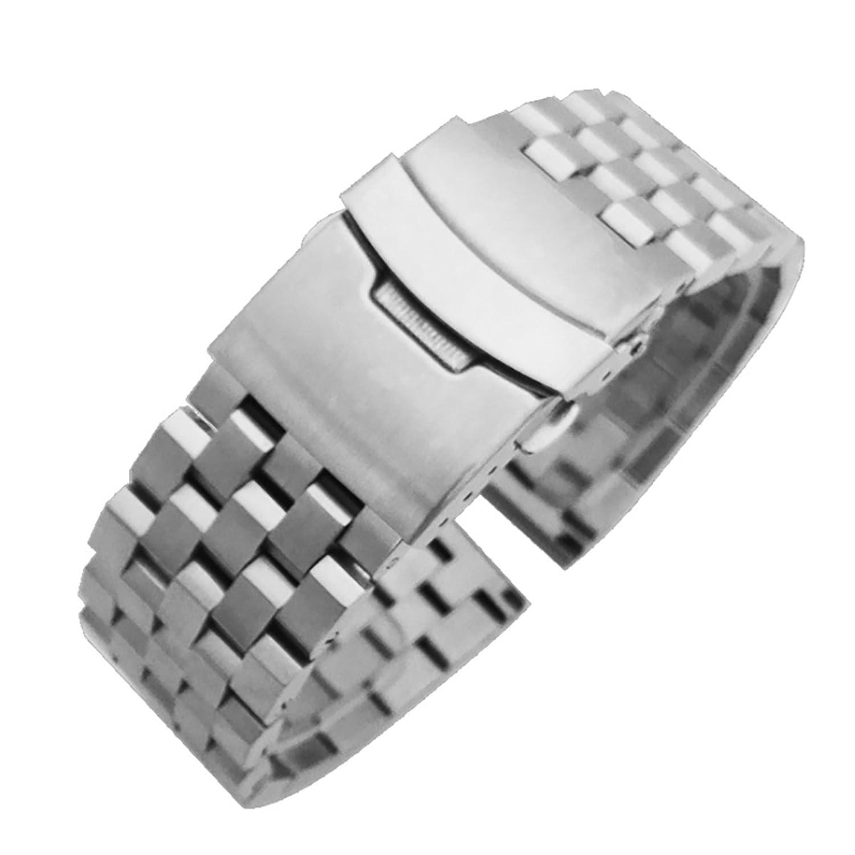 腕時計ステンレスベルト 汎用品 シルバー 20mm SB701-SV-20  B073VJ7DNS