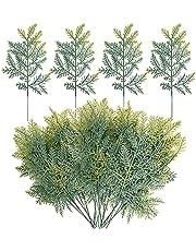 Watayo Artificial Faux Cedar Branches-13.3x7 Inch Artificial Cedar Sprigs-Faux Cedar Pine Stems Picks for DIY Garland Wreath Christmas Embellishing and Home Garden Decoration