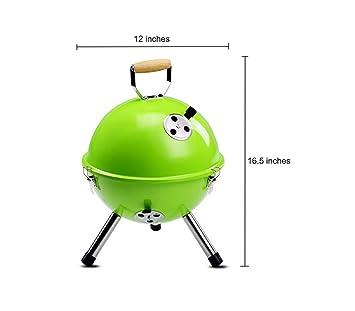 QueenA - Parrilla para barbacoa portátil de 17 pulgadas, sin humo, para exteriores,