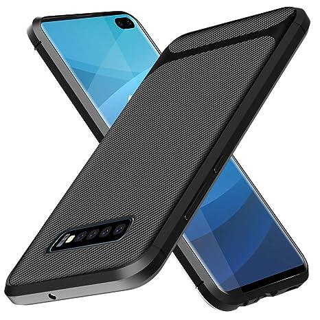 Aceniy Carcasa Samsung Galaxy S10 Plus, [Carcasa Blanda Negra] Carcasa Protectora de Silicona Ultrafina Carcasas Suaves de TPU Carcasa del teléfono ...