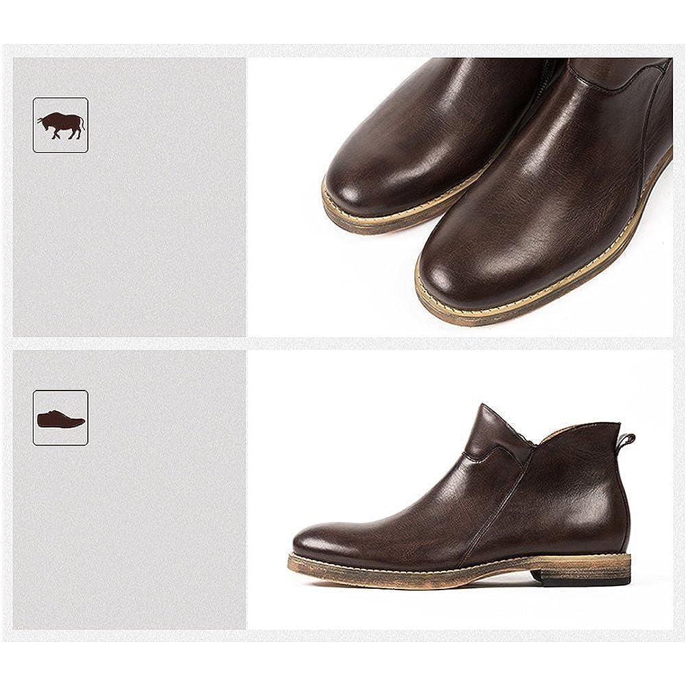 LYZGF Herren Jugend Casual Martin Stiefel Fashion Vintage Vintage Vintage Lederstiefel Reißverschluss Lederschuhe 6859ee