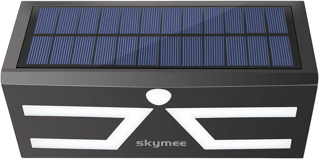 SKYMEE Solar Lights Outdoor LED Security Night Light Wireless Solar Motion Sensor Wall Light, IP65 Waterproof, for Gate Fence Patio Deck Yard Garden Black
