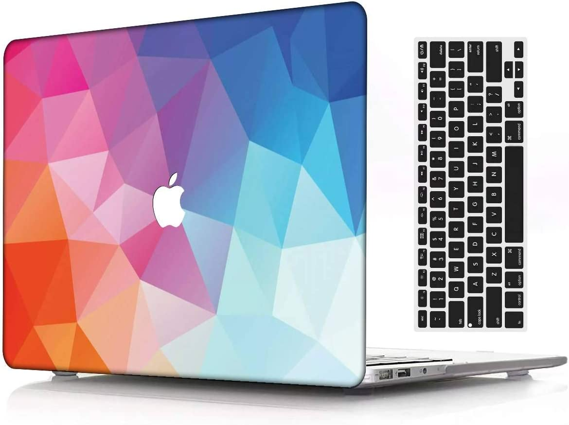 A1932 Keyboard Cover Model Creative 9 KBBHD Plastic Shell Case Cover Cut Out Design Only Compatible Newest Version MacBook Air 13 inch Retina//Touch ID 2018 Release