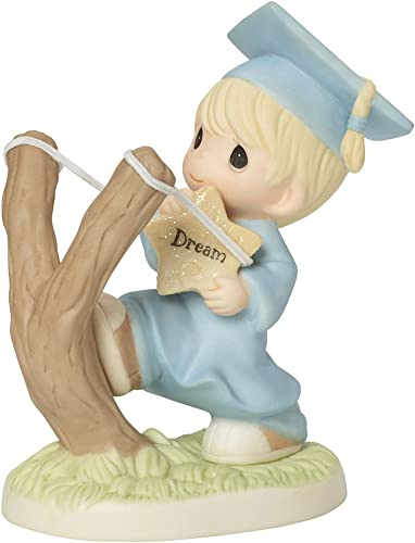 Precious Moments, Shoot For The Stars, Bisque Porcelain Figurine, Boy, 154024