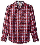 Robert Graham Men's Nassau Classic Fit Sport Shirt, Red, Large