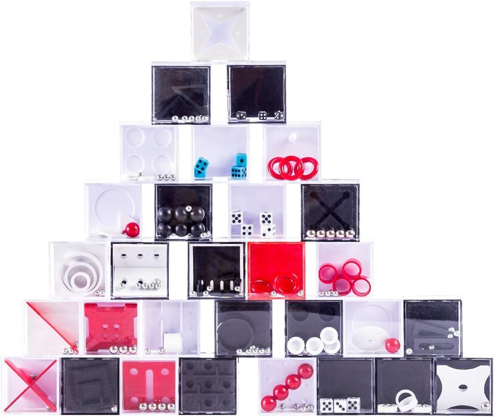 Foxom 30Pcs Rompecabezas Mini Puzzles Laberinto Cubo 3D Puzzle IQ Juego Advent Calendar Regalo para Niños Adultos: Amazon.es: Juguetes y juegos