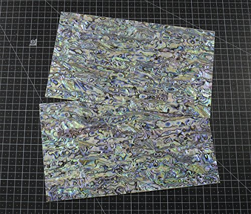 Pearl Prism Blue - NEW PAUA BLUE sheet shell inlay 9.5 x 5.5 x 0.006 inch (1 pcs)