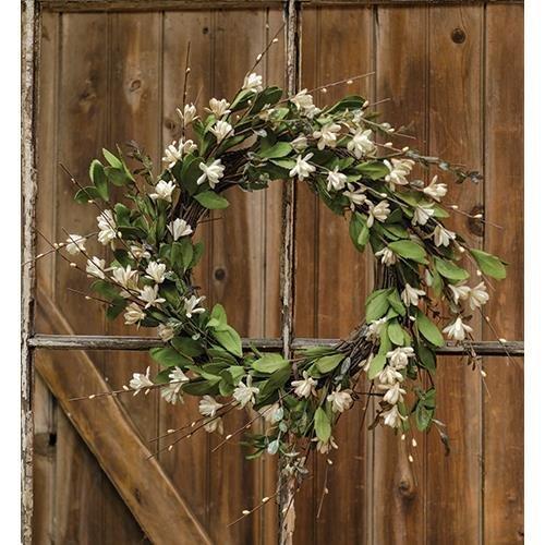 Heart of America Teastain Gardenia & Twig Wreath 20