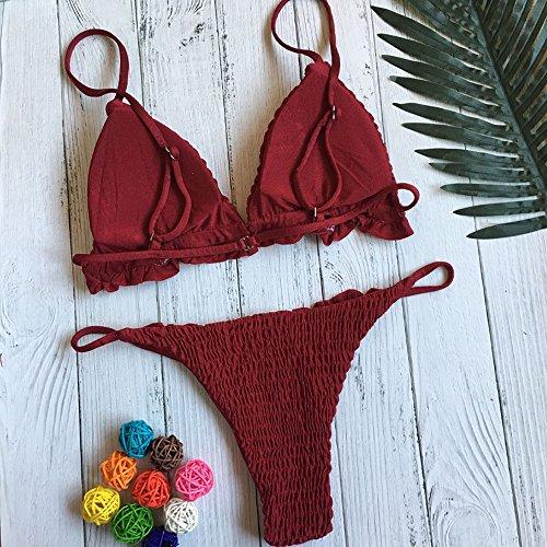 bagno Imbottito Bikini Up Bikini up push imbottito donna Swimwear da a da fiori Donne Sexy costumi Red Benda Reggiseno imbottito bagno Push da costume Italily vRqfFw