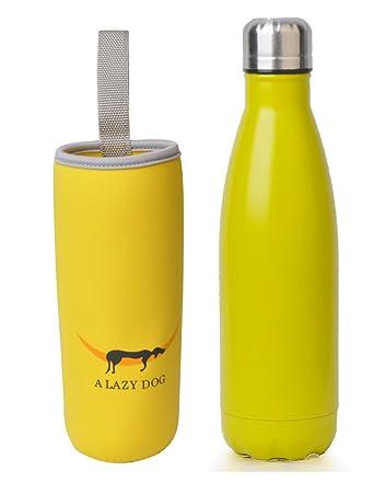 Amazon.com: Botella de agua aislada al vacío con forma de ...