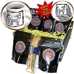 cgb_12089_1 Janna Salak Designs Dogs – I Love My Italian Greyhound Grey – Coffee Gift Baskets – Coffee Gift Basket