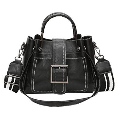 Ladies Shoulder Retro Leather Corssbody Bag For Women Bolsa Feminina Bolsos Mujer De Marca Famosa Black