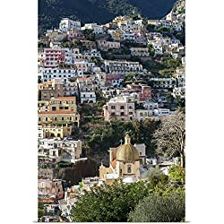 Great BIG Canvas Poster Print entitled Positano townscape, Italy
