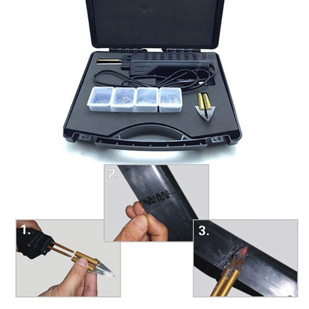 Binglinghua 110V/220V Hot Stapler Car Bumper Fender Fairing Welder Gun Plastic Repair Kit 200 Staples by Binglinghua® (Image #6)