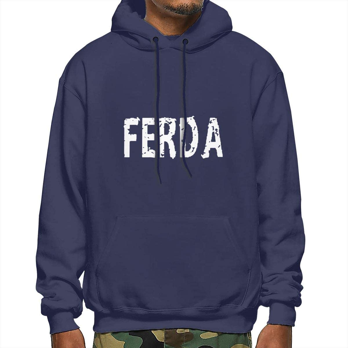 Mens Autumn Winter Long Sleeve Hoodies Ferda Letterkenny Logo Hooded Pockets Sweatshirt Tracksuits Black