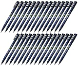 Tombow Fudenosuke Brush Pen (GCD-111), Hard Tip, Blue Body, Value set of 30