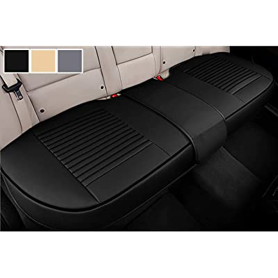 Big Ant Back Seat Covers, Separated Seat Cover PU Leather Back Car Seat Covers Breathable Back Cover Fit for Most Car, SUV, Vehicle Supplies (Black-Flexible for Different Seat Size): Automotive