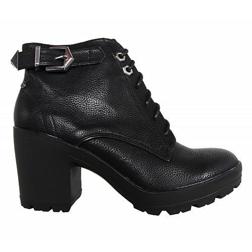 MTNG Botines de Mujer 51437 POMPO Negro Talla 40: Amazon.es: Zapatos y complementos
