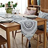 LivebyCare Multi-Size Geometric Table Runners with Tassels Elegant Modern Fall Table Runners For Home Decoration 63 Inches for Dresser Tea Table Decoration