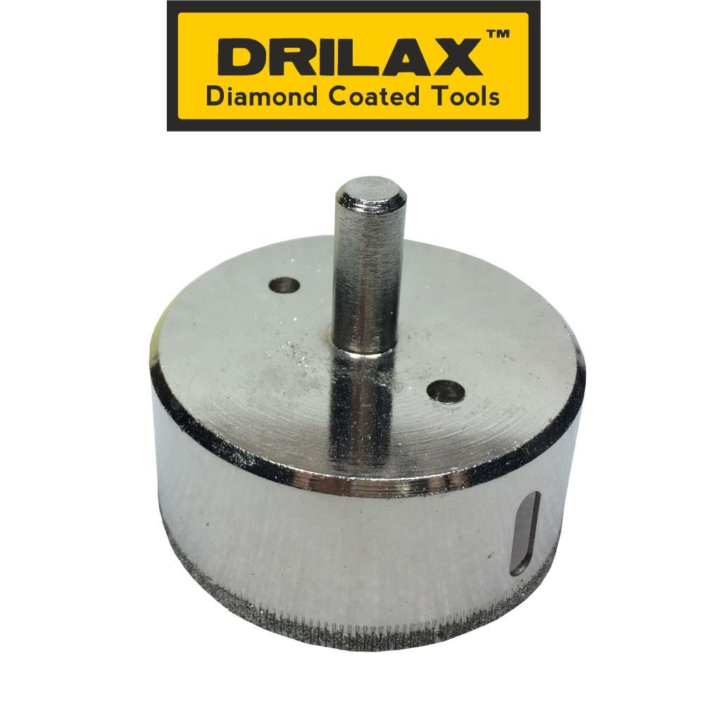 Drilaxtm 2 12 diamond drill bit hole saw for ceramic porcelain drilaxtm 2 12 diamond drill bit hole saw for ceramic porcelain tiles glass fish tanks marble granite quartz diamond coated circular saw kitchen dailygadgetfo Gallery