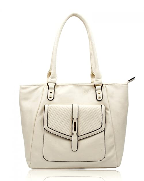 8f9adfa687 LeahWard Large Size Shoulder Bag For Women Faux Leather Handbags For School  Holiday Office CW14128 (Almond Bag)  Amazon.co.uk  Shoes   Bags