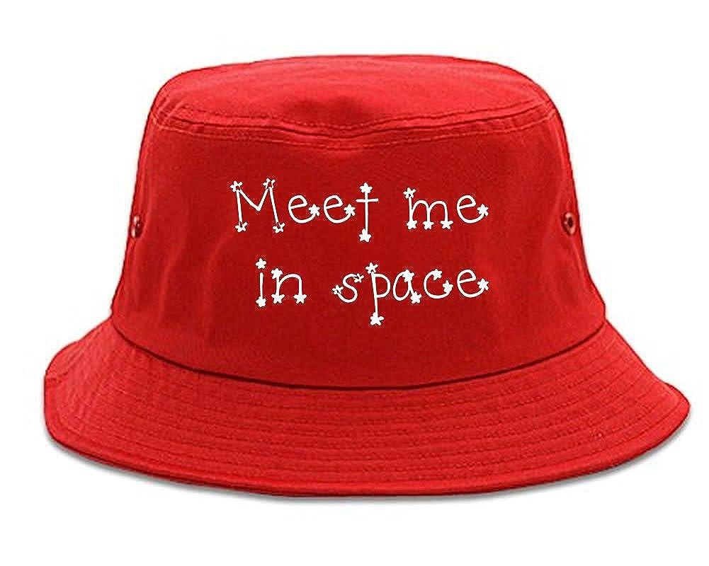 324c6d30832bb Amazon.com  FASHIONISGREAT Meet Me in Space Bucket Hat Black  Clothing
