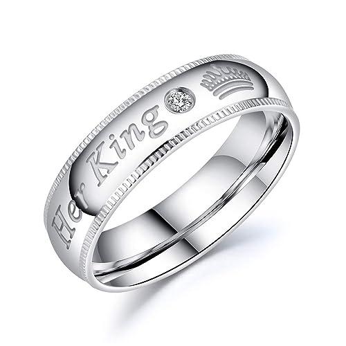 Amazon.com: Riaxa - Anillo de plata y acero inoxidable con ...