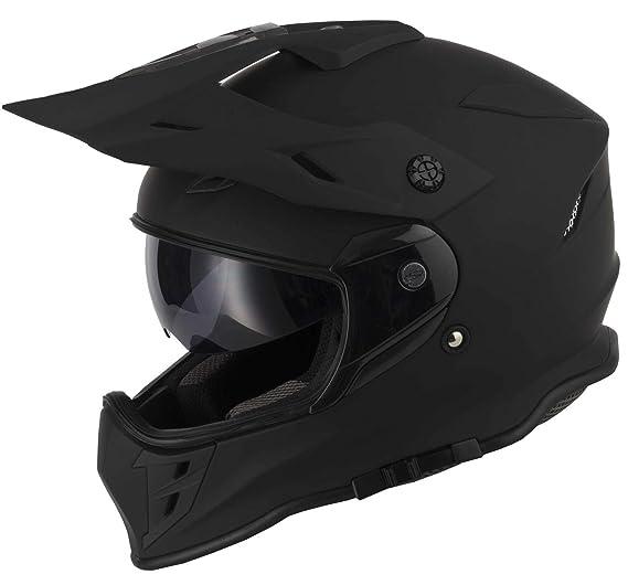 protectWEAR Casco cross Casco enduro Casco moto con visiera parasole integrata e visiera V331-SM-XL