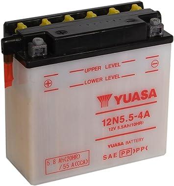 Motorrad Batterie Yuasa 12n5 5 4b 12v 5 5ah Maße 138x61x131 Auto