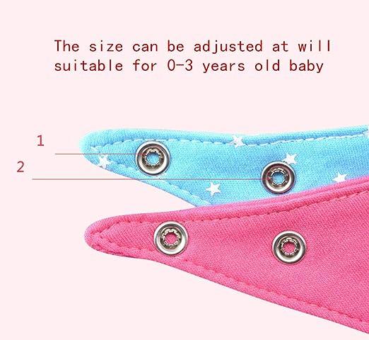 Morbuy B/éb/é Bavoirs Bandana 4PCS Coton Bouton R/églable Bavoir Naissance Prot/éger Les V/êtement des B/éb/és Triangle Bavette Absorbant Hypoallerg/éniques pour Enfant B/éb/é Fille et Gar/ç