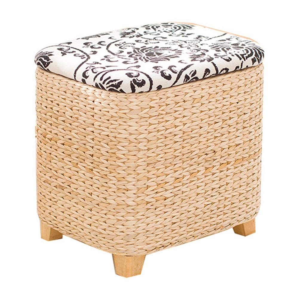 B1-36x30x36cm LSXIAO Pouffes And Footstools Square Structure Storage Stool Big Space Hand Made Lining Washable, 2 Sizes, 2 colors (color    B1-36x30x36cm)