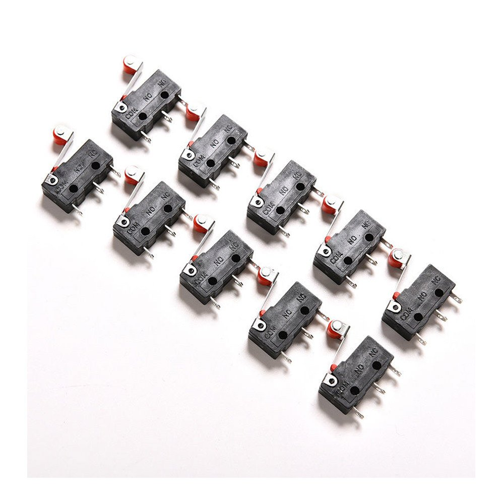 ximimark 20pcs kw12-3 micro roller lever arm normally open close limit switch
