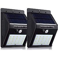 20/54/90 LED Solar Powered PIR Motion Sensor Light Garden Outdoor Security Lights (20LED-2Pack)