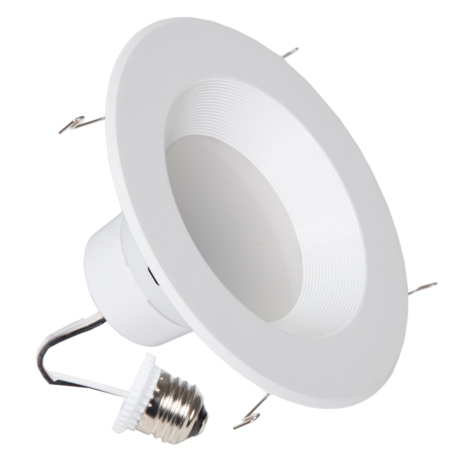 900 Lumens 6 Inch Maxxima Dimmable Led Retrofit Downlight Fixture How To Install Recessed Lighting For Dramatic Effect The Family 2700k Warm White Energy Star 90 Watt Equivalent Straight E26 Cable Connection 4 Pack